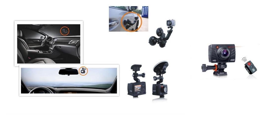 варианты установки видеорегистратора Magicam SD19